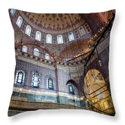 Yeni Valide  Camii Mosque Istanbul Turkey Throw Pillow