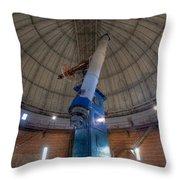 Yerkes Observatory Telescope Throw Pillow