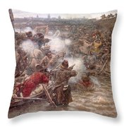 Yermaks Conquest Of Siberia Throw Pillow