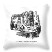 Yes, Jamie - You Have An Insight? Throw Pillow