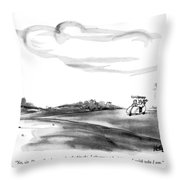 Yes, Sir, Dave. Out Here, Under The Big Sky Throw Pillow