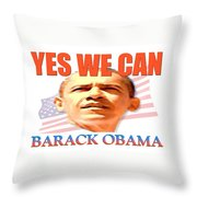 Yes We Can - Barack Obama Throw Pillow