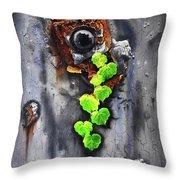 Yesterday - Now Throw Pillow by Jurek Zamoyski