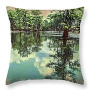 Yesteryear At Caddo Lake Throw Pillow