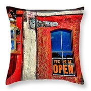 Yes...were Open Throw Pillow
