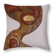 Yin And Yang Front View Throw Pillow
