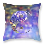 Yin And Yang Of The Earth Throw Pillow