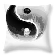 Yin Yang 2 Throw Pillow