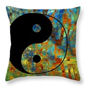 Yin Yang Abstract Throw Pillow