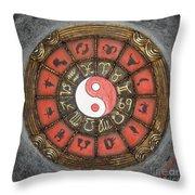 Yin Yang Horoscope Throw Pillow