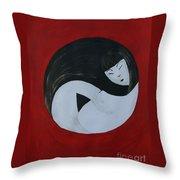 Yin Yang Maternity Throw Pillow