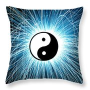Yin Yang Throw Pillow by Tim Gainey