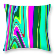 Yipes Stripes II Variation  C2014 Throw Pillow
