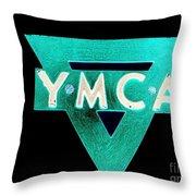 Ymca Throw Pillow