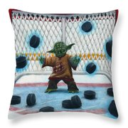 Yoda Saves Everything Throw Pillow by Marlon Huynh