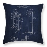 Yoga Exercising Apparatus Patent From 1968 - Navy Blue Throw Pillow