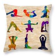 Yoga Poses Throw Pillow