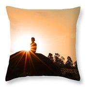 Yoga Time Throw Pillow