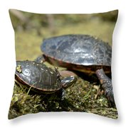 Yoga Turtles Throw Pillow