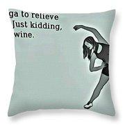 Yoga Wisdom Throw Pillow