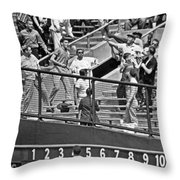 Yogi Berra Home Run Throw Pillow by Underwood Archives