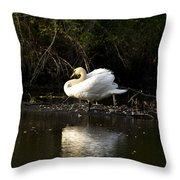 Yogi Swan Throw Pillow