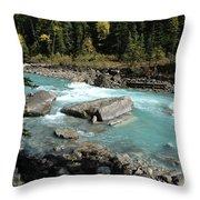 Yoho River Throw Pillow