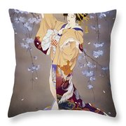 Yoi Throw Pillow by Haruyo Morita