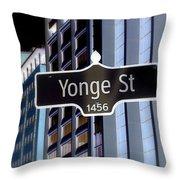 Yonge Street Throw Pillow