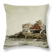 York Beach Throw Pillow by Monte Toon