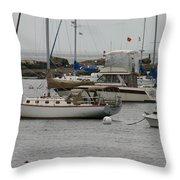 York Harbor Maine Throw Pillow