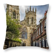 York Minster England Throw Pillow
