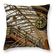York Railway Station Throw Pillow