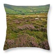 Yorkshire Moors Heather Throw Pillow