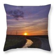 Yorkshire Sunset  Throw Pillow