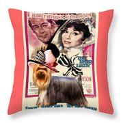 Yorkshire Terrier Art Canvas Print - My Fair Lady Movie Poster Throw Pillow