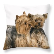 Yorkshire Terrier Dogs Throw Pillow