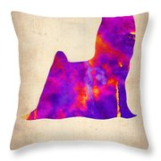 Yorkshire Terrier Poster Throw Pillow by Naxart Studio