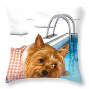 Yorkshire Terrier - This Is The Life Throw Pillow