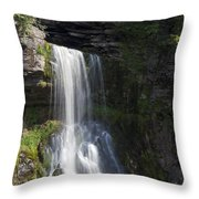 Yorkshire Waterfall Throw Pillow