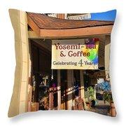 Yosemi Tea Coffee Shop Mariposa California  6935 Throw Pillow
