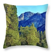 Yosemite Ahwahnee Hotel Courtyard Throw Pillow