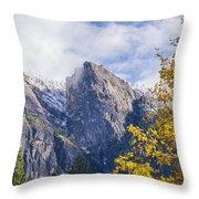 Yosemite Between Seasons Throw Pillow
