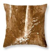 Yosemite Bridalveil Falls Throw Pillow