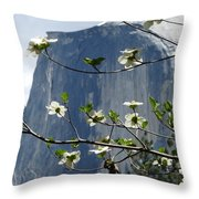Yosemite Dogwood And Half Dome Throw Pillow