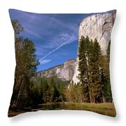 Yosemite El Capitan River Throw Pillow
