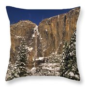 Yosemite Falls And Lost Arrow Yosemite National Park  Throw Pillow