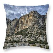 Yosemite Falls Dry Throw Pillow