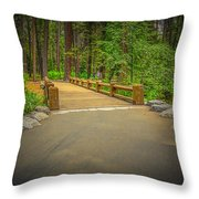 Yosemite Falls Trail Throw Pillow
