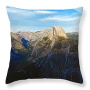 Yosemite Glacier Point Panorama Throw Pillow